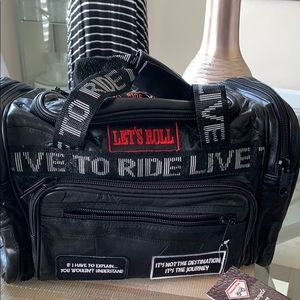 Heavy-Duty LIVE TO RIDE Tote Bag